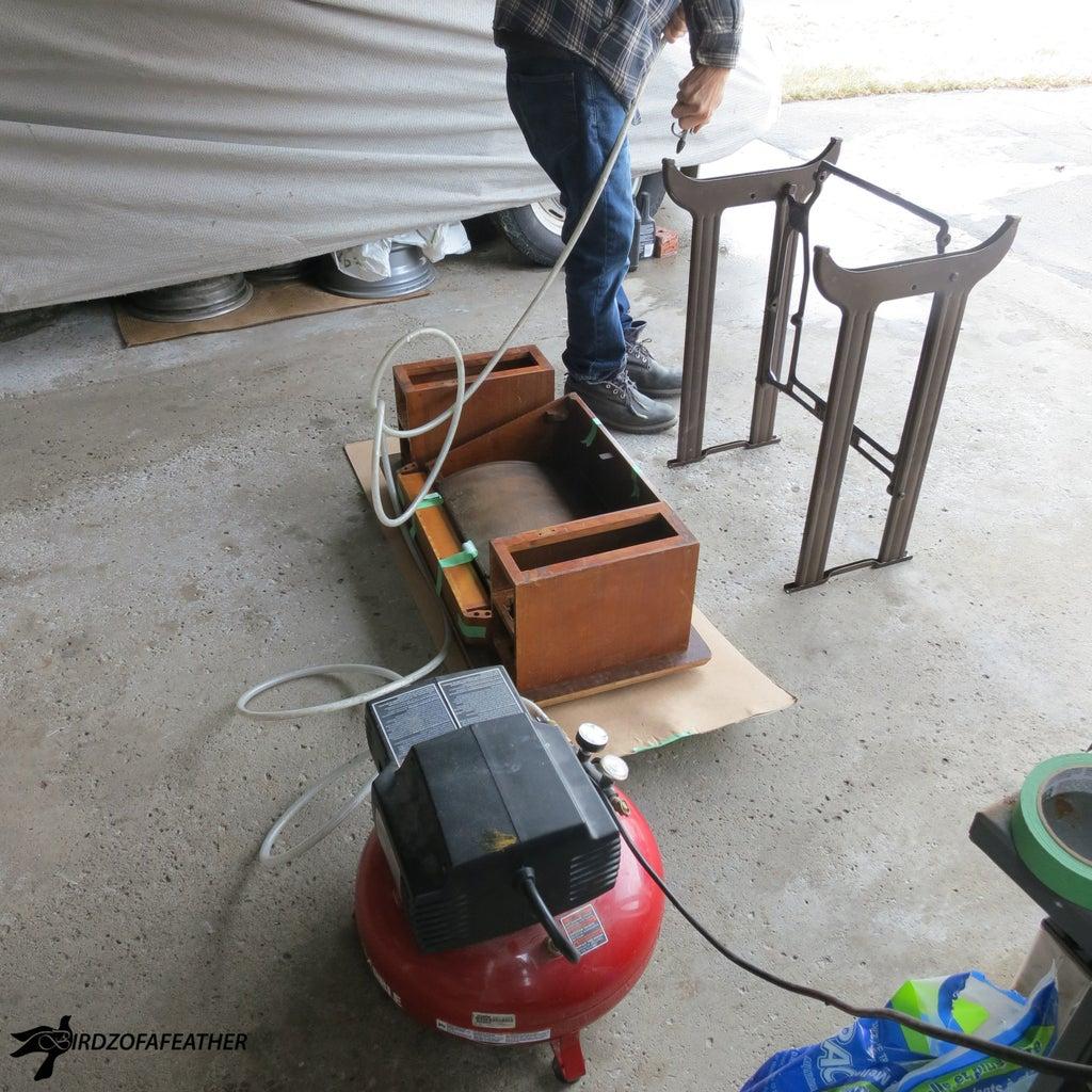 Use Air Gun to Clean