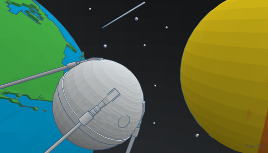 Awesome Space Scene Made Easy by TINKERCAD