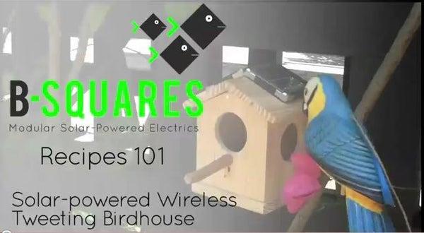Solar-powered Wireless Tweeting Birdhouse