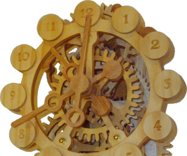 A Wood Gear Clock With a Unique Drive Mechanism