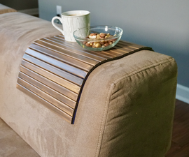 DIY Foldable Wooden Tray for Sofa