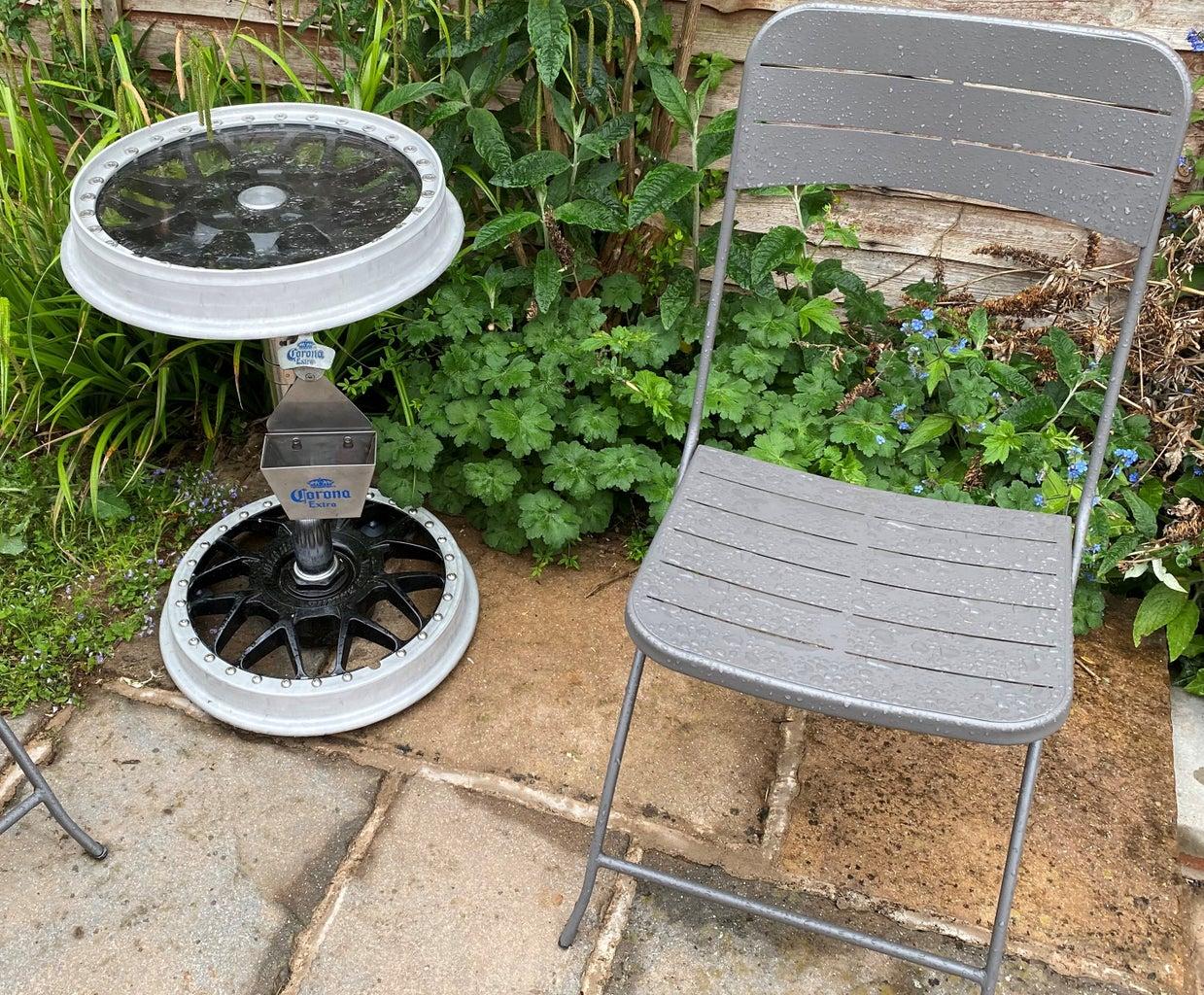 Small Garden Table - Automotive Theme