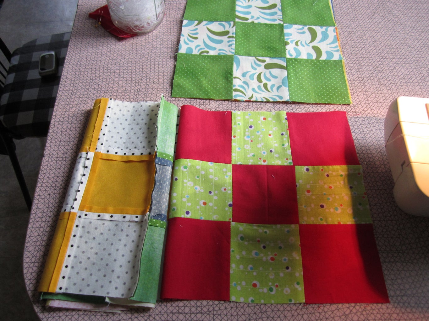 Sewing the Quilt Top Together, Part 1.