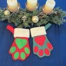 Dog Paw Christmas Stocking