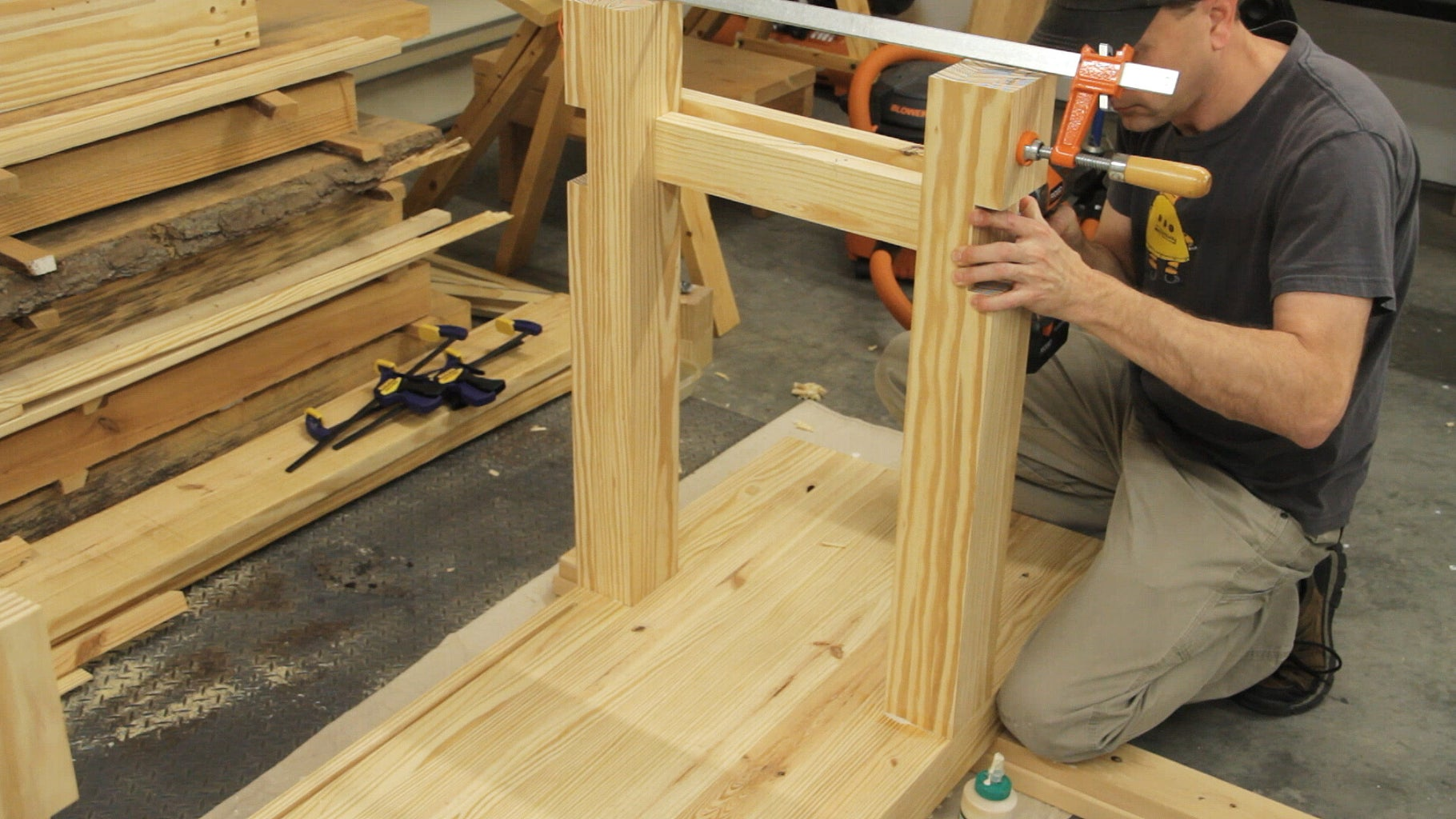 Assembling the Legs and Stretchers