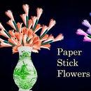 Paper Stick Flowers