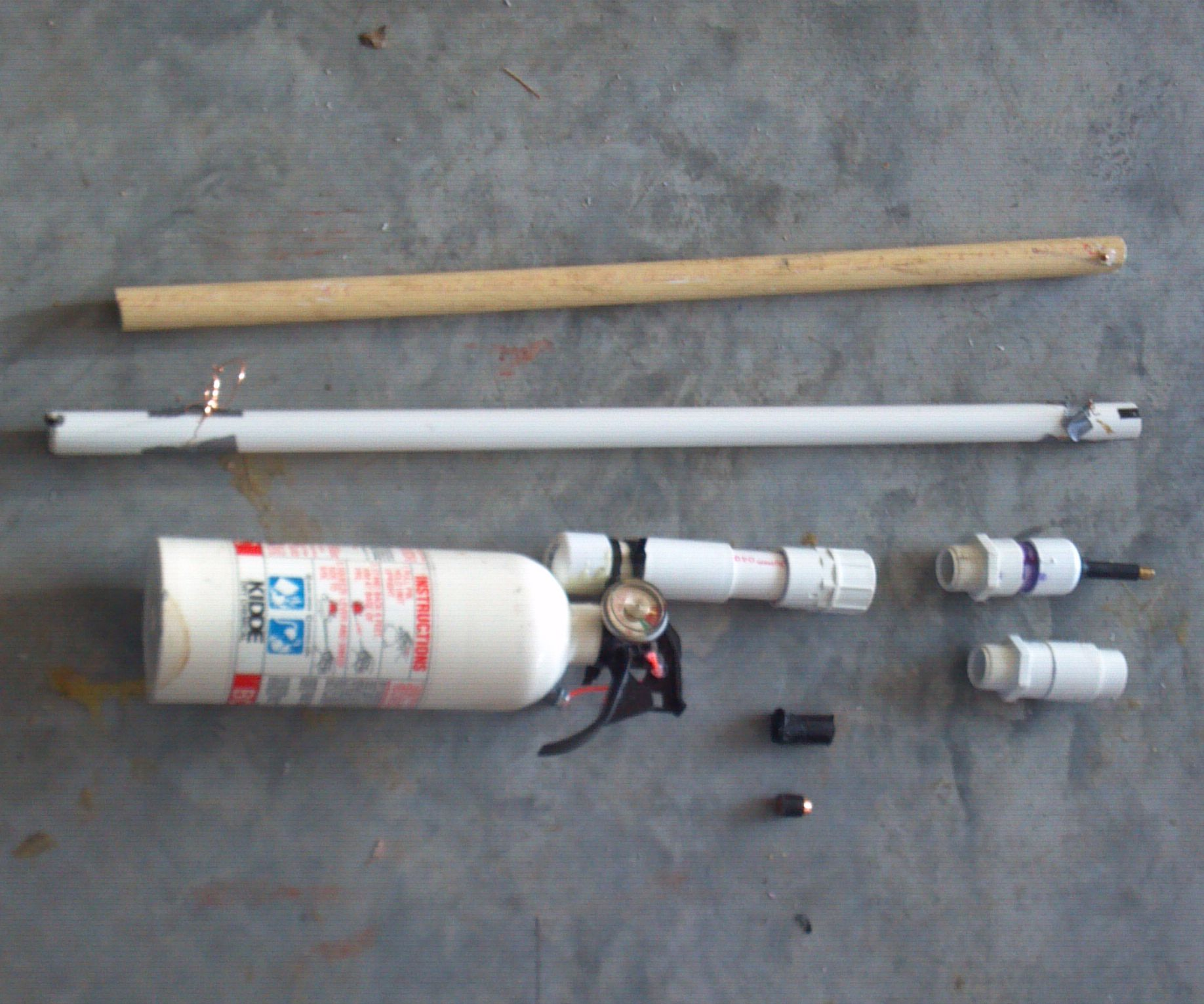 How to make an EASY SEMI-AUTO Spud Gun out of a Fire Extinguisher plus RIFLING