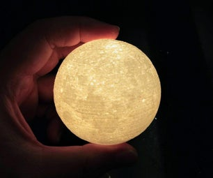 Simplified NASA CGI Moon Lamp