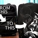 How to Customize Your Luggage - Can't Draw? Neither Can I. How to Easily Transfer Drawings.