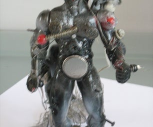 Custom Steampunk Mutant Parasite Action Figure Set