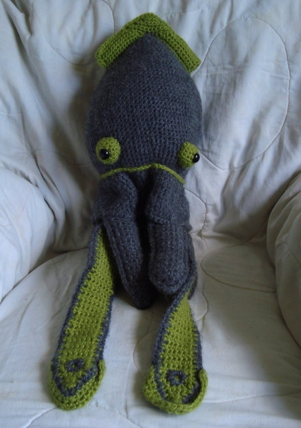 Crocheted Squid Hat
