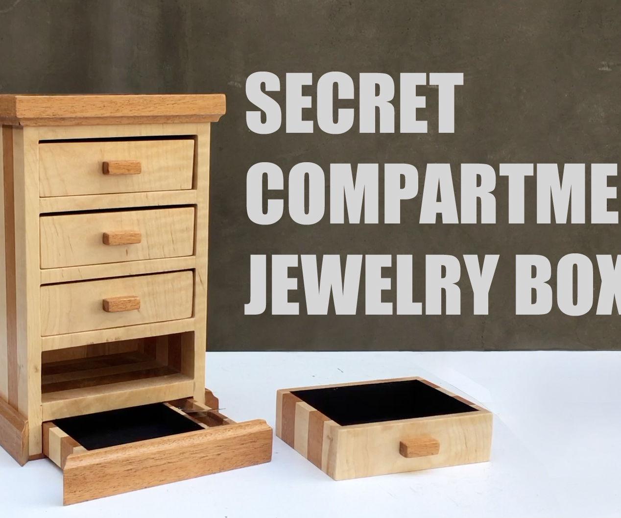 Secret Compartment Jewelry Box