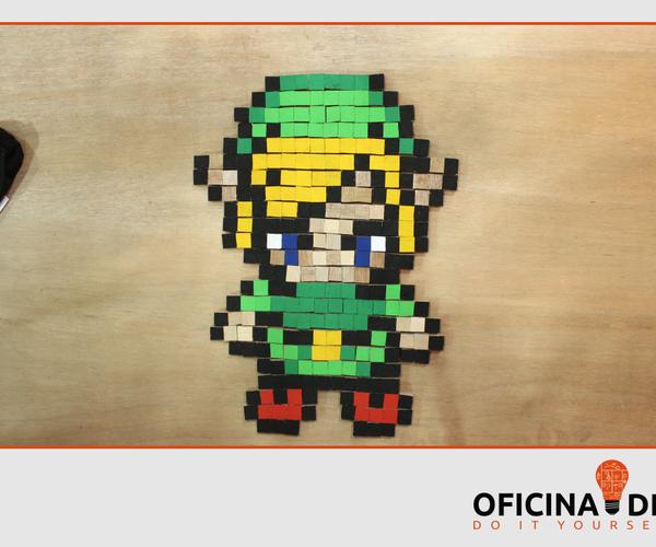 Pixel Art  of Link  the Legend  of Zelda