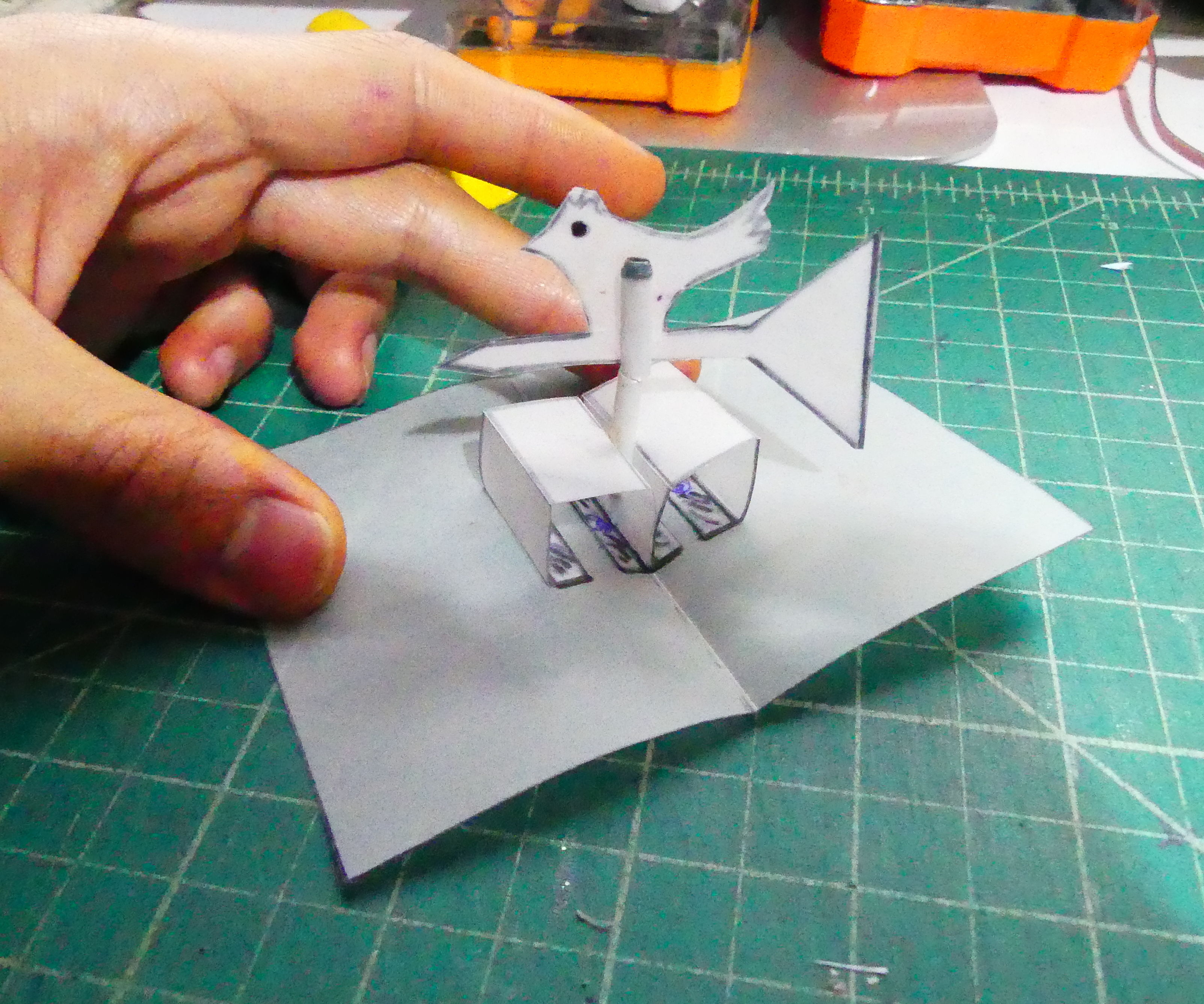 Miniature Weathercock Pop-up Business Card