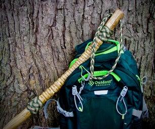 Ribbed Handle Hiking Stick