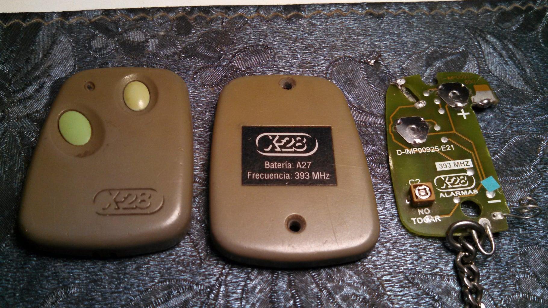 Reparar Control De Alarma X28 Con Led Reciclado
