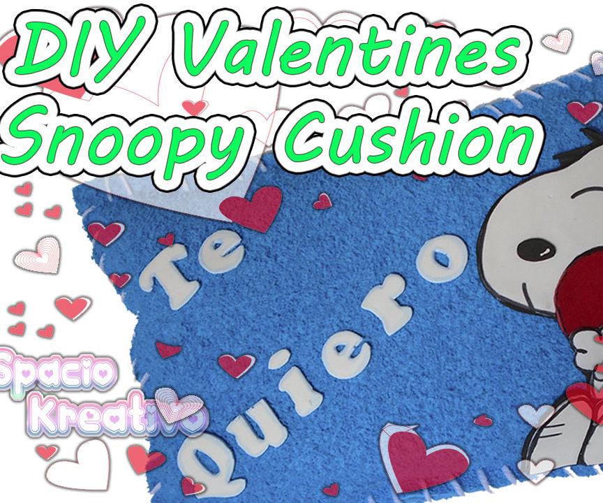 DIY Valentines: Snoopy Cushion