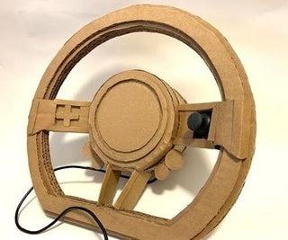 The Easiest Cardboard USB Steering Wheel