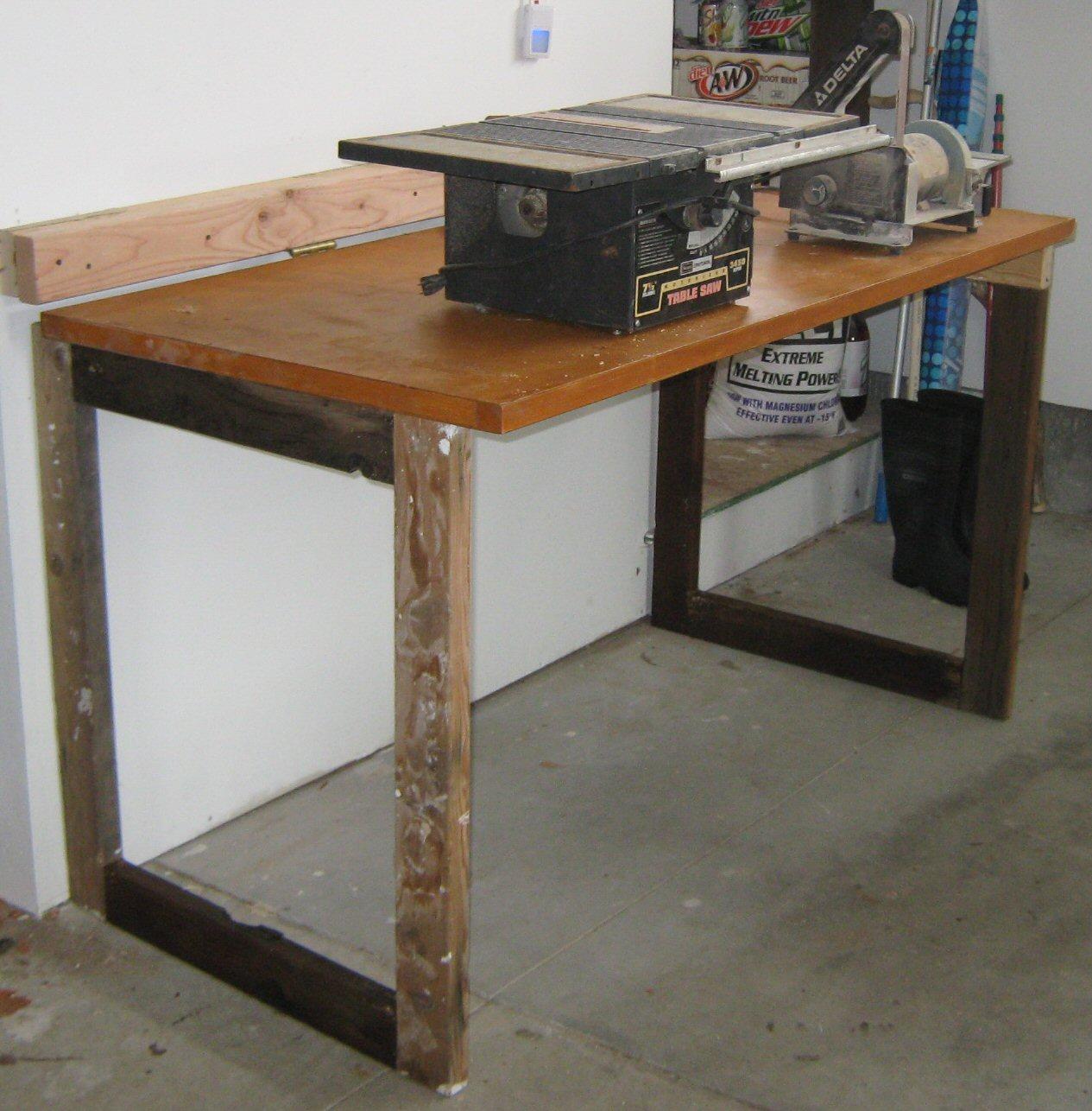 Folding Garage Counter from a door.