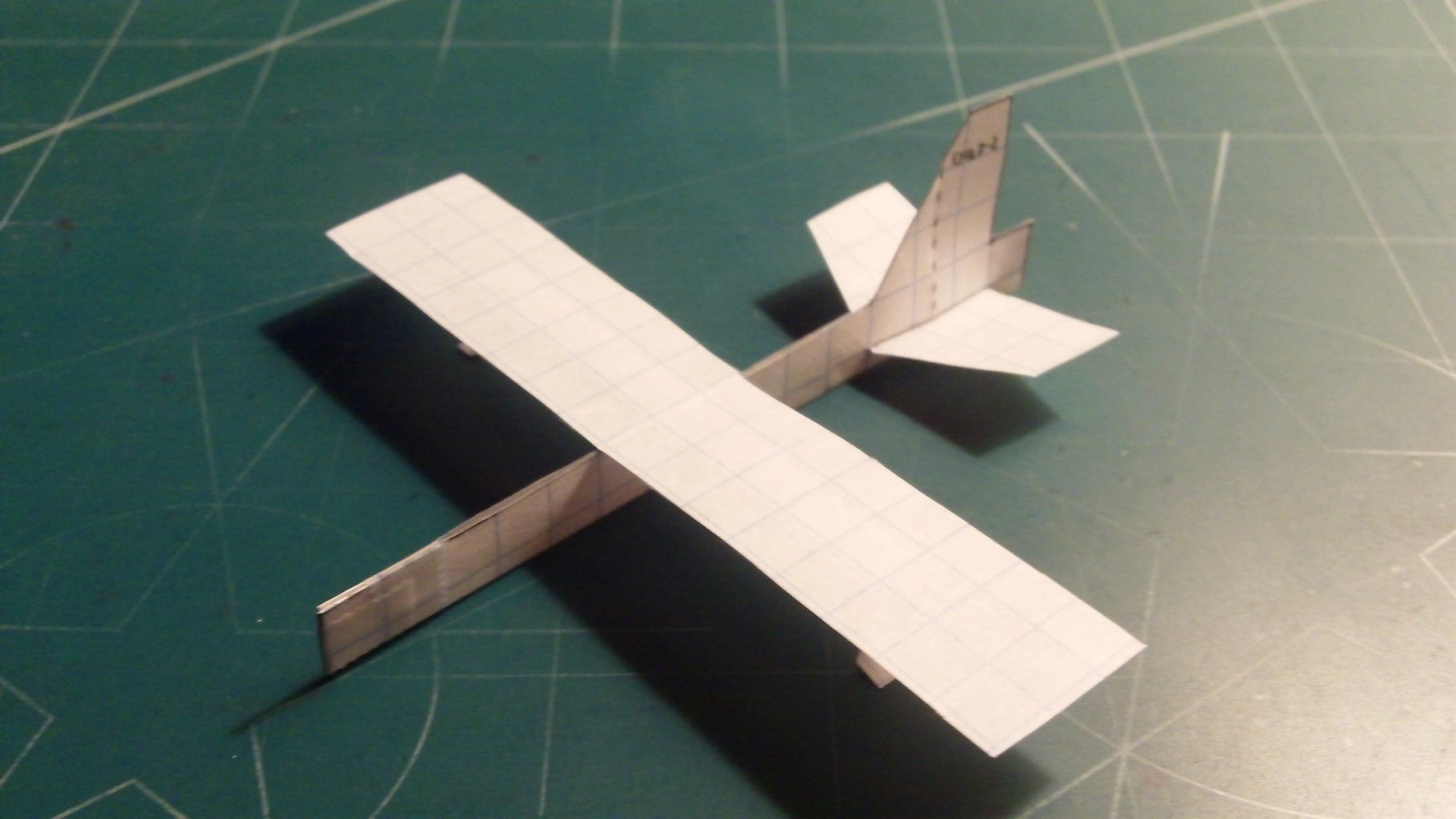 Applying the Wing, Horizontal Stabilizers and Stapling