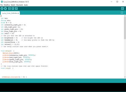 Scrittura Codice Su IDE Arduino