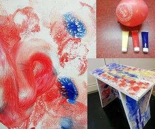 Balloon Paint/ Foldable Workbench/ Stool