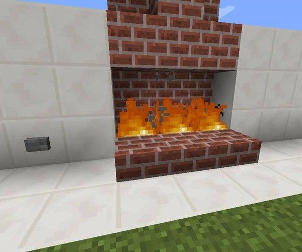 Minecraft Secret Fireplace Entrance