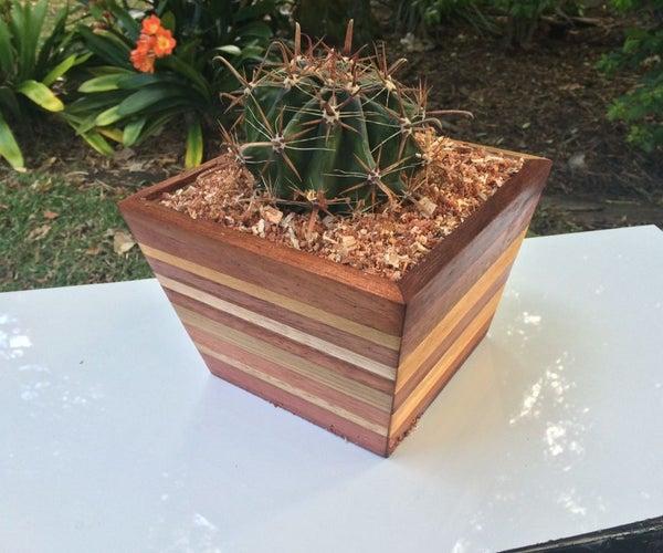 Scrap Wood Pot Plant