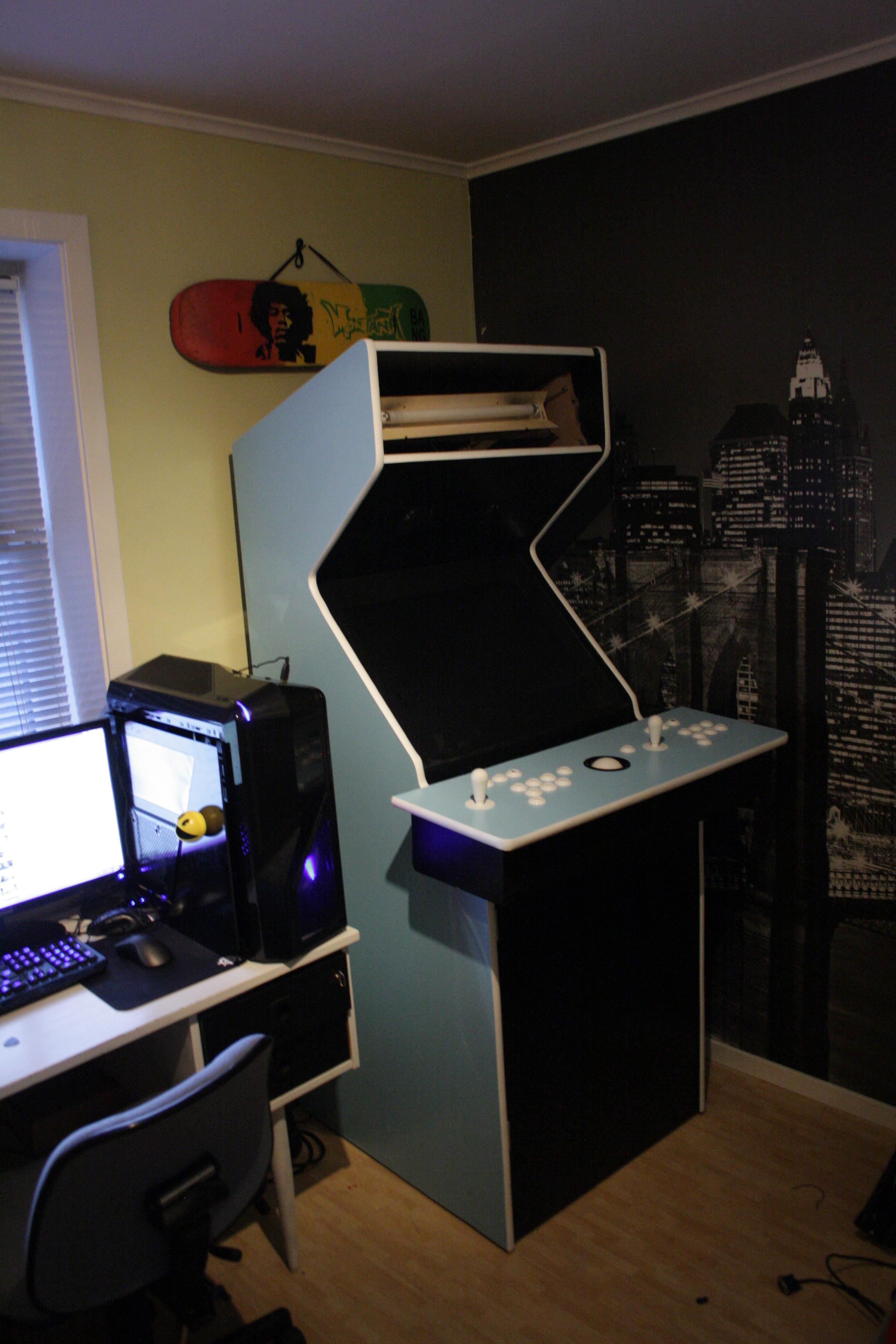 My arcade machine of blue awesomeness