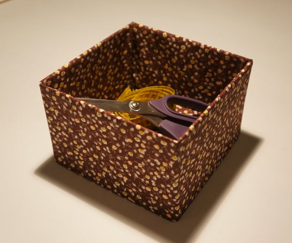 DIY Fabric Box - Quick and Easy