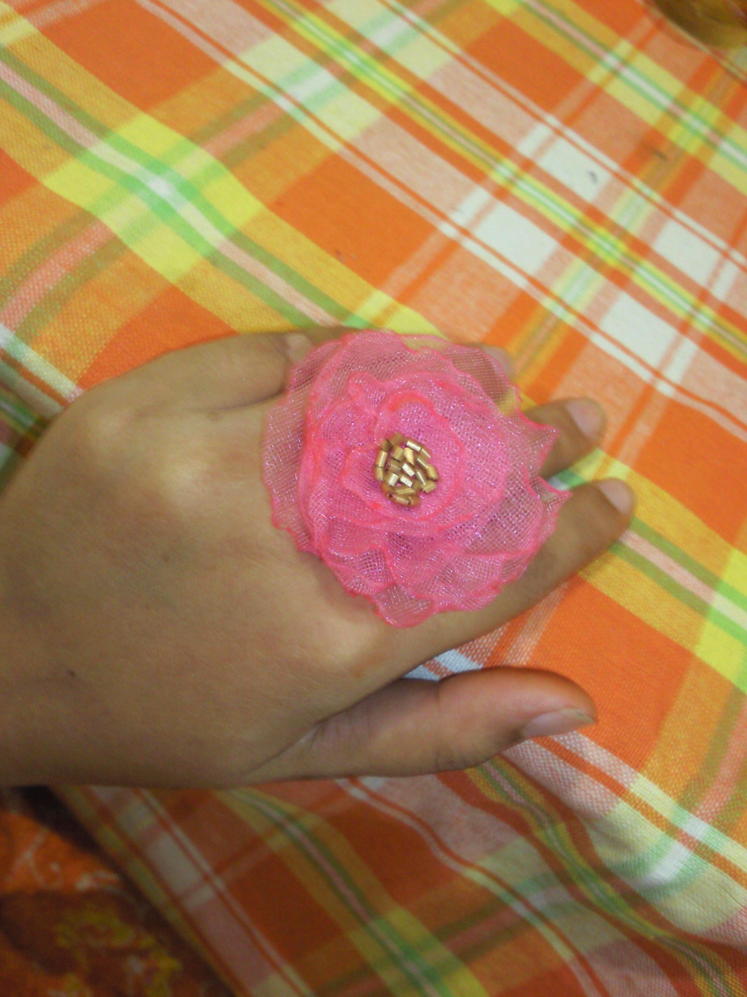 fabric rose ring