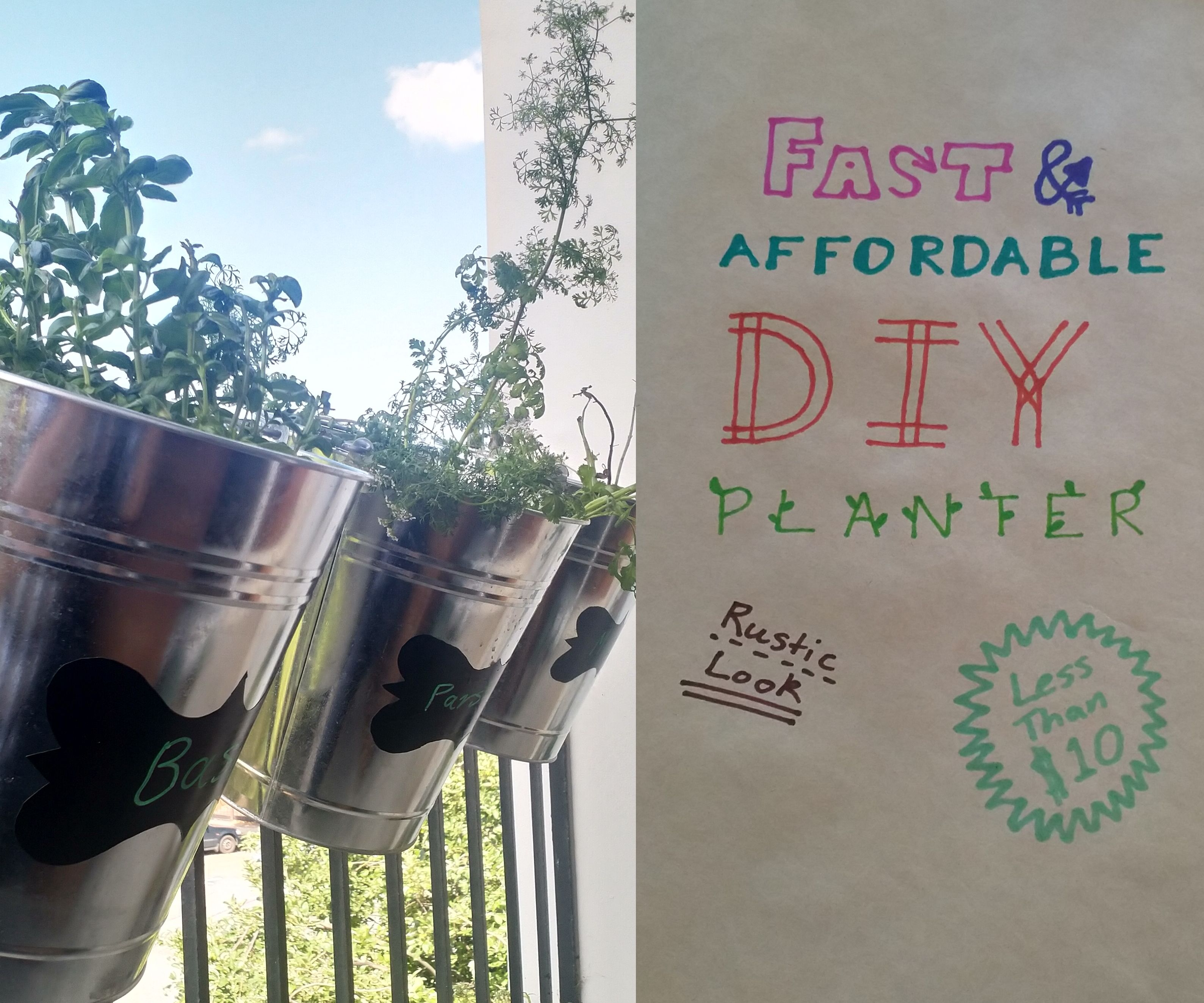 Cheap and Fast Rustic Planter