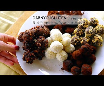 5 chocolate truffles for New Year! (GF)