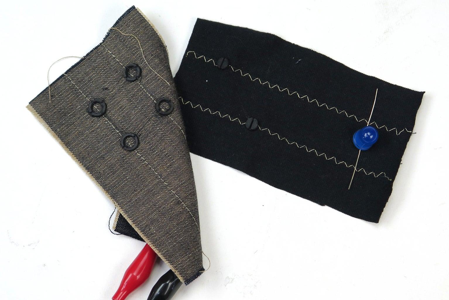 3D Printed Conductive Snap Fabric