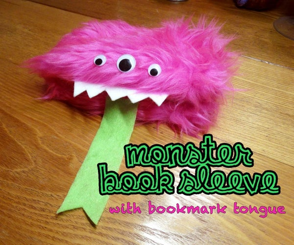 Monster Book Sleeve With Bookmark Tongue