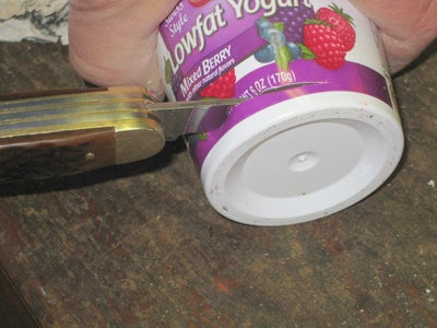 Adding the Center Yogurt Cup.