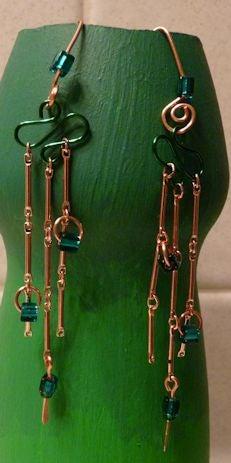 Embellished Chain Dangle Earrings