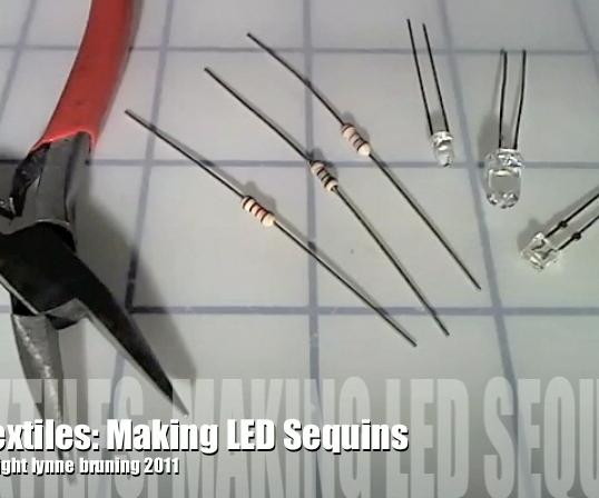 ETextiles: Making LED Sequins
