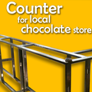 Counter for local chocolate store