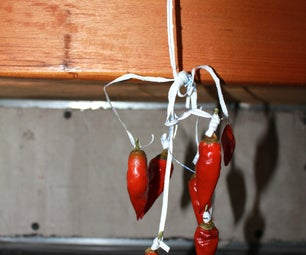 Drying Hot Peppers With a Pepper Tree