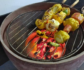 Gas Tandoor/Barbeque From Old Earthen Water Pot