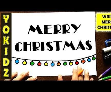 HOW TO WRITE MERRY CHRISTMAS IN DESIGN
