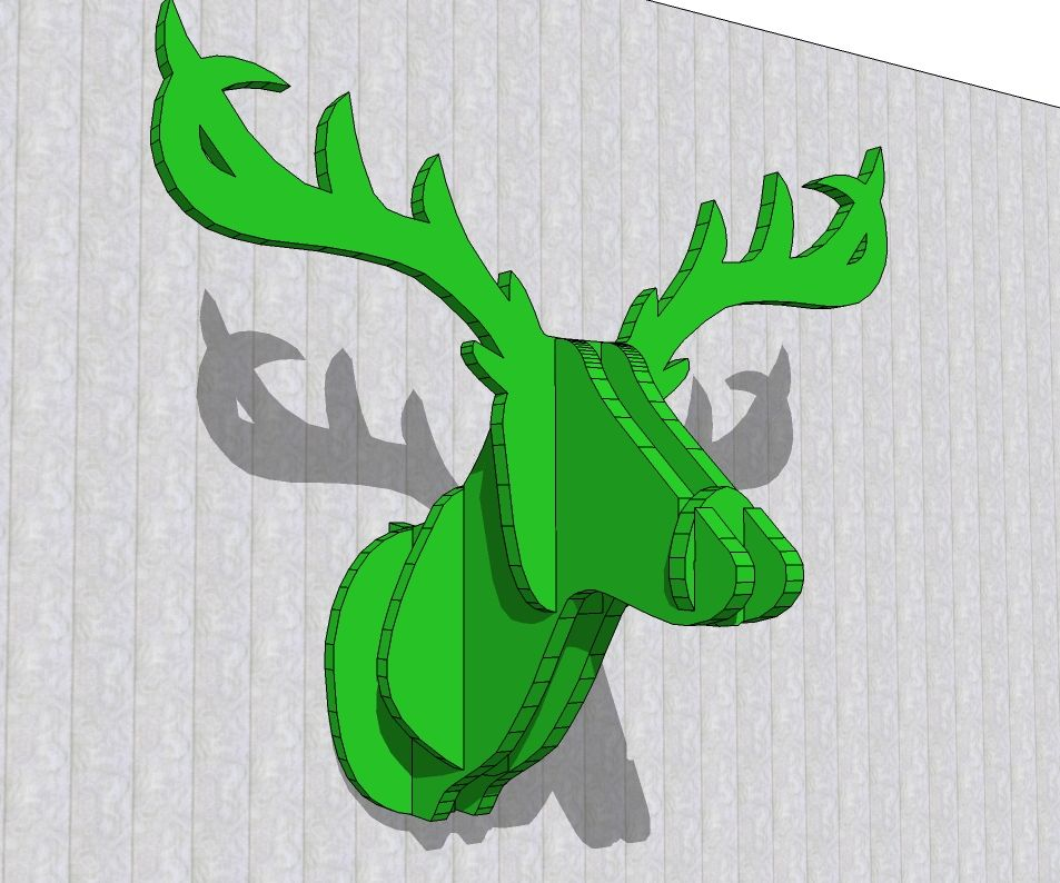 A deer head for decorat with cnc