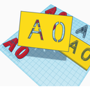 Stencil Lettering in Tinkercad