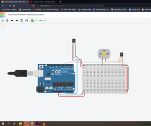 温控直流电机| Arduino TINKERCAD
