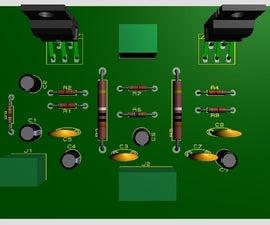 PCB Design of 35W-8ohm  Amplifier Using Bridged TDA2030