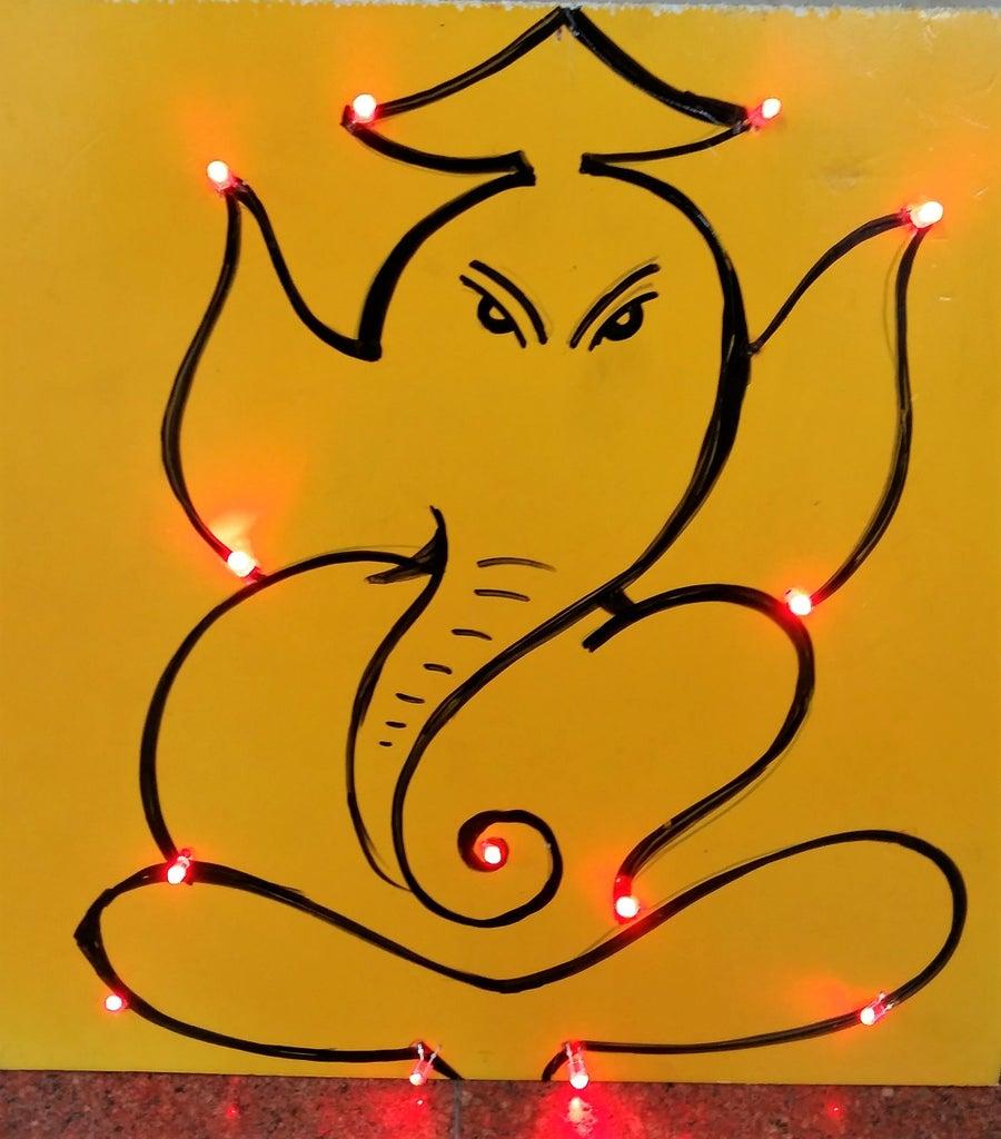 Sparkling LED Ganesha