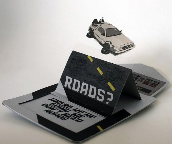 Flying DeLorean Back to the Future Invitation