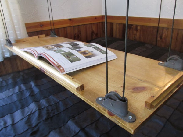 Paracord and Pulley Hanging Table