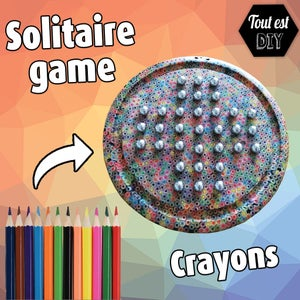 Solitaire Game With Crayons